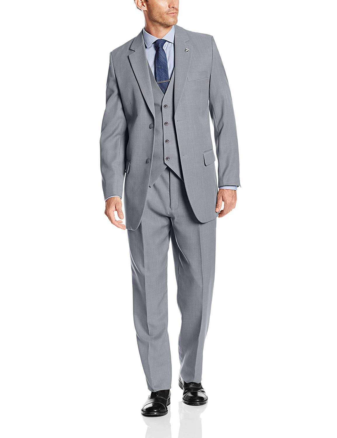 STACY ADAMS Men's Suny Vested 3 Piece Suit