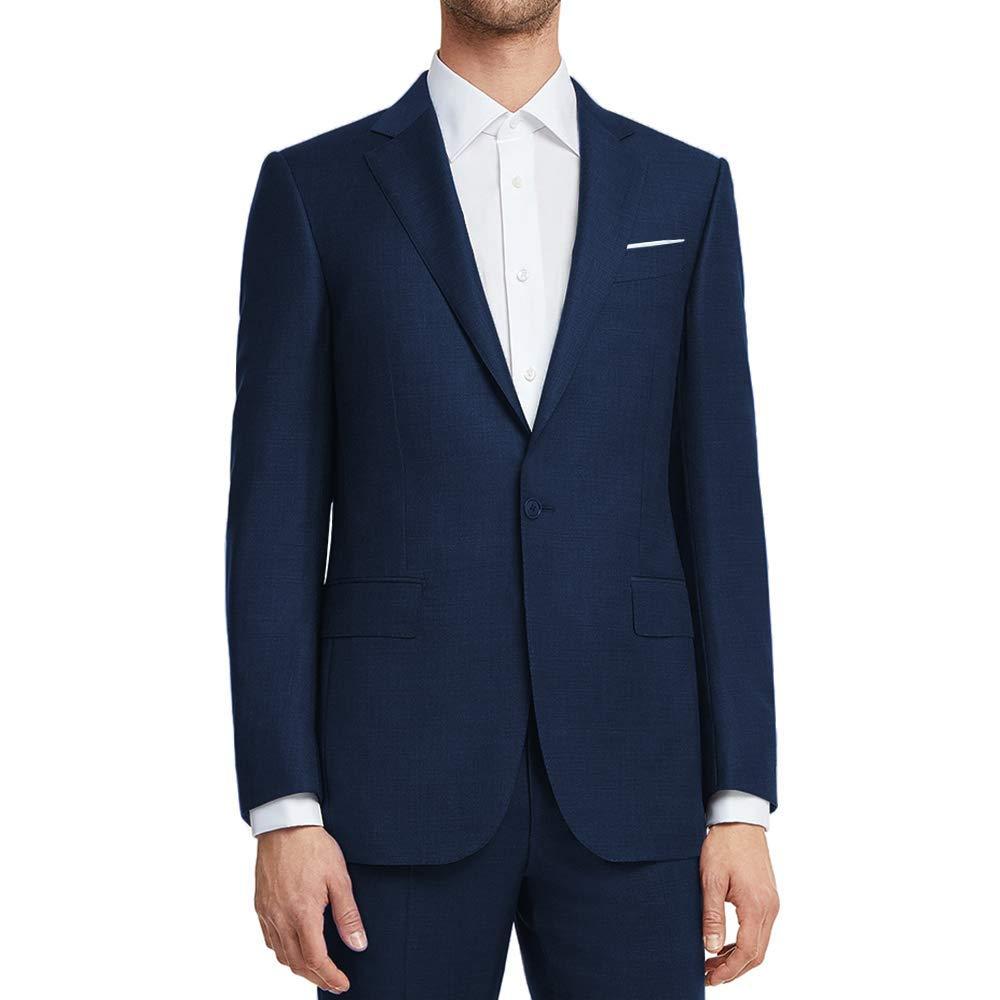 WULFUL Men's Suit Jacket One Button Slim Fit Sport Coat Casual Blazer Jacket