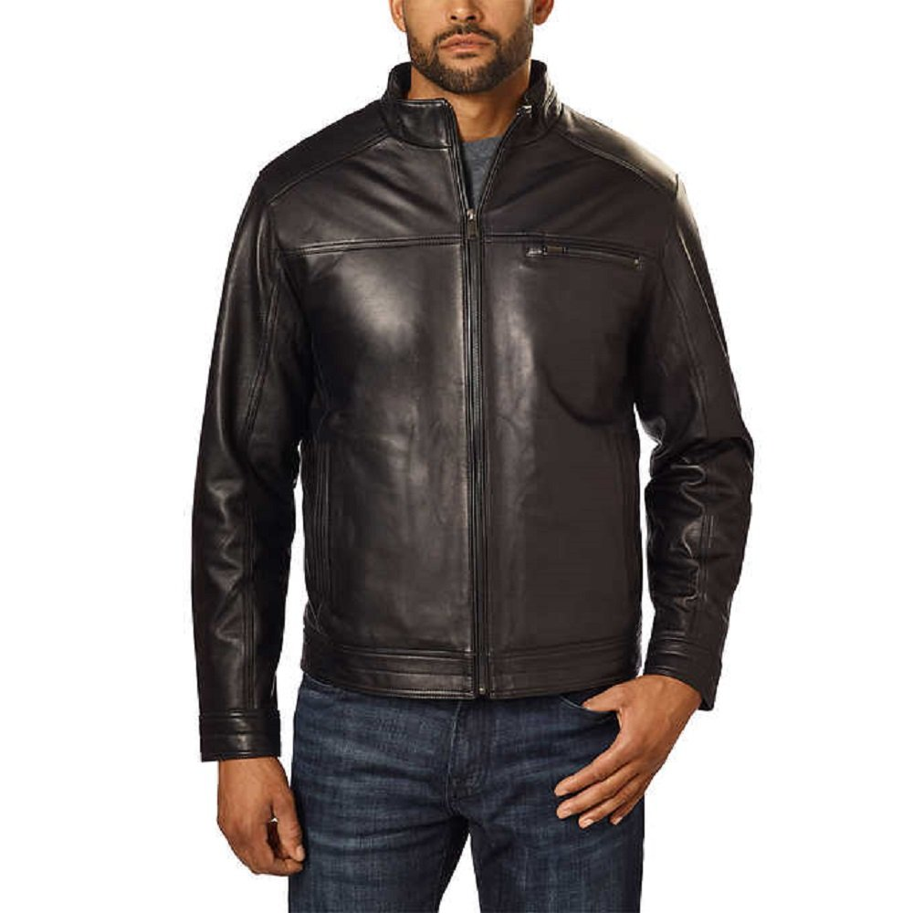 Boston Harbour Men's Genuine New Zealand Lambskin Leather Jacket