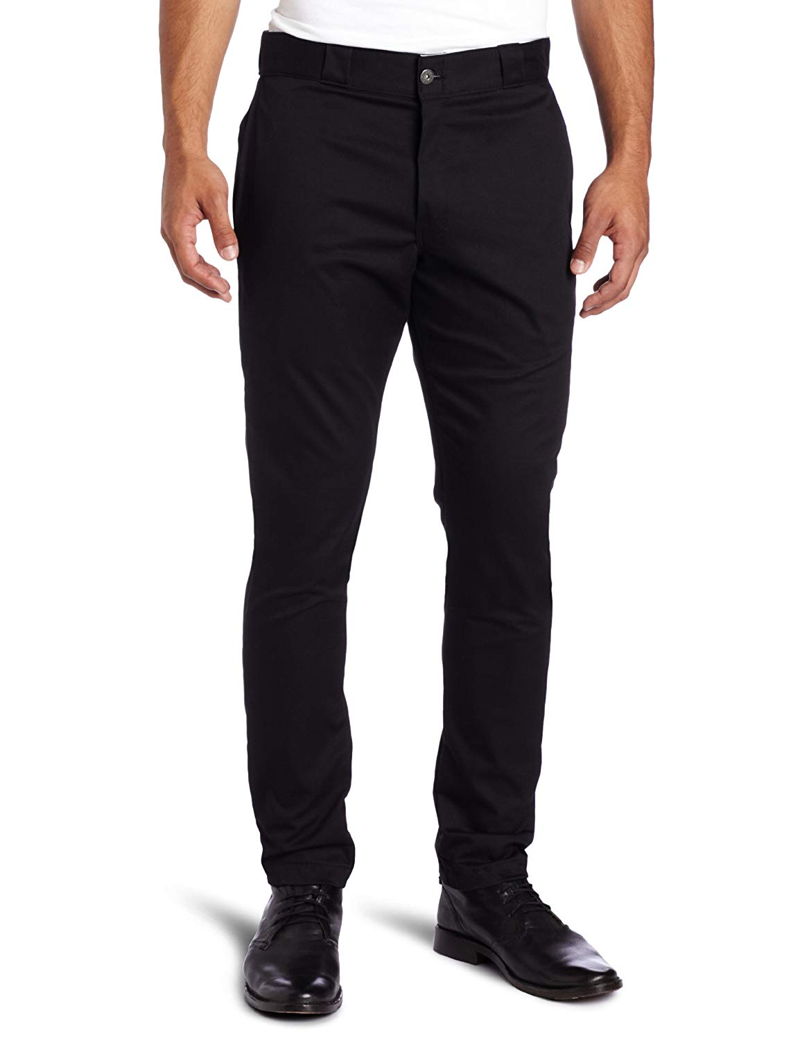 Dickies Men's Skinny Straight-Fit Work Pant Stain & Wrinkle Resistant Cotton/Poly