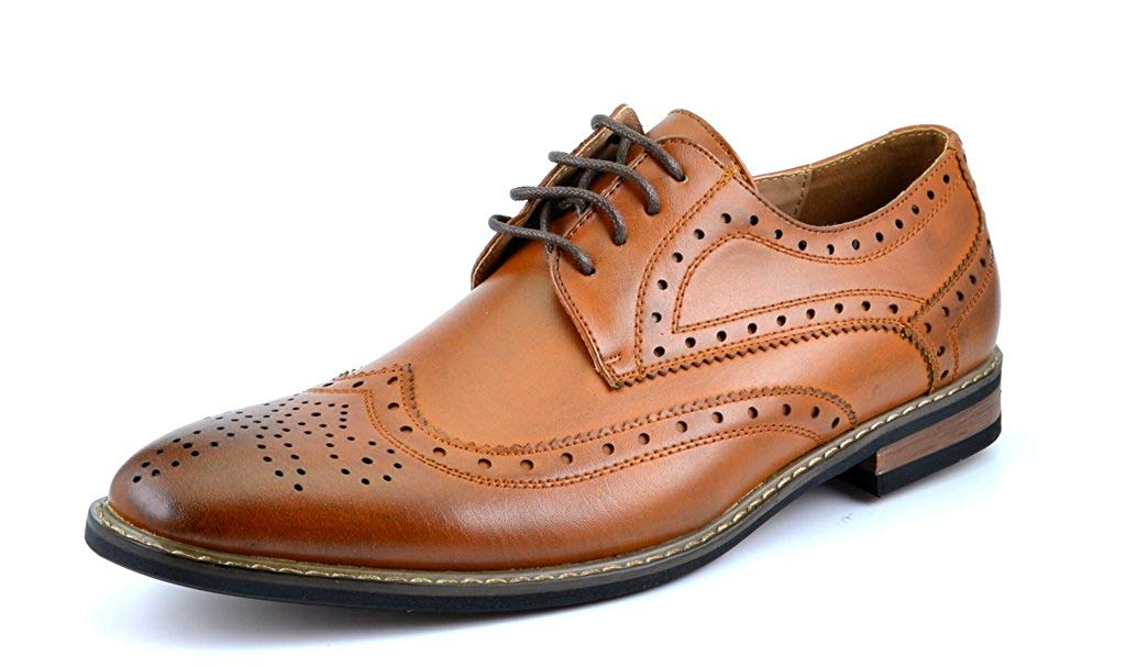 DREAM PAIRS Bruno Marc Moda Italy Men's Prince Classic Modern Oxford Wingtip Lace Dress Shoes
