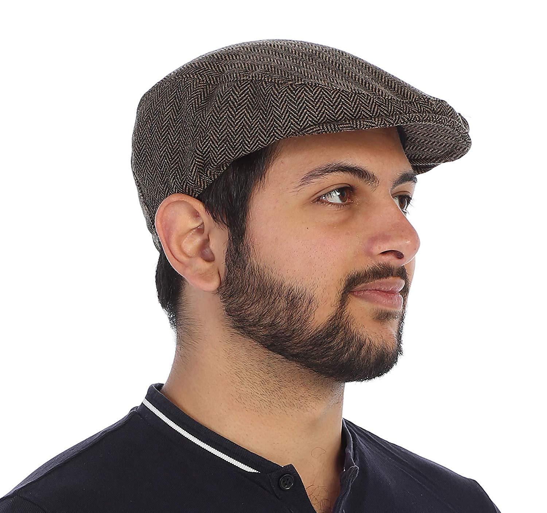 Gioberti Men's Tweed Ivy Cap with Very Soft Lining