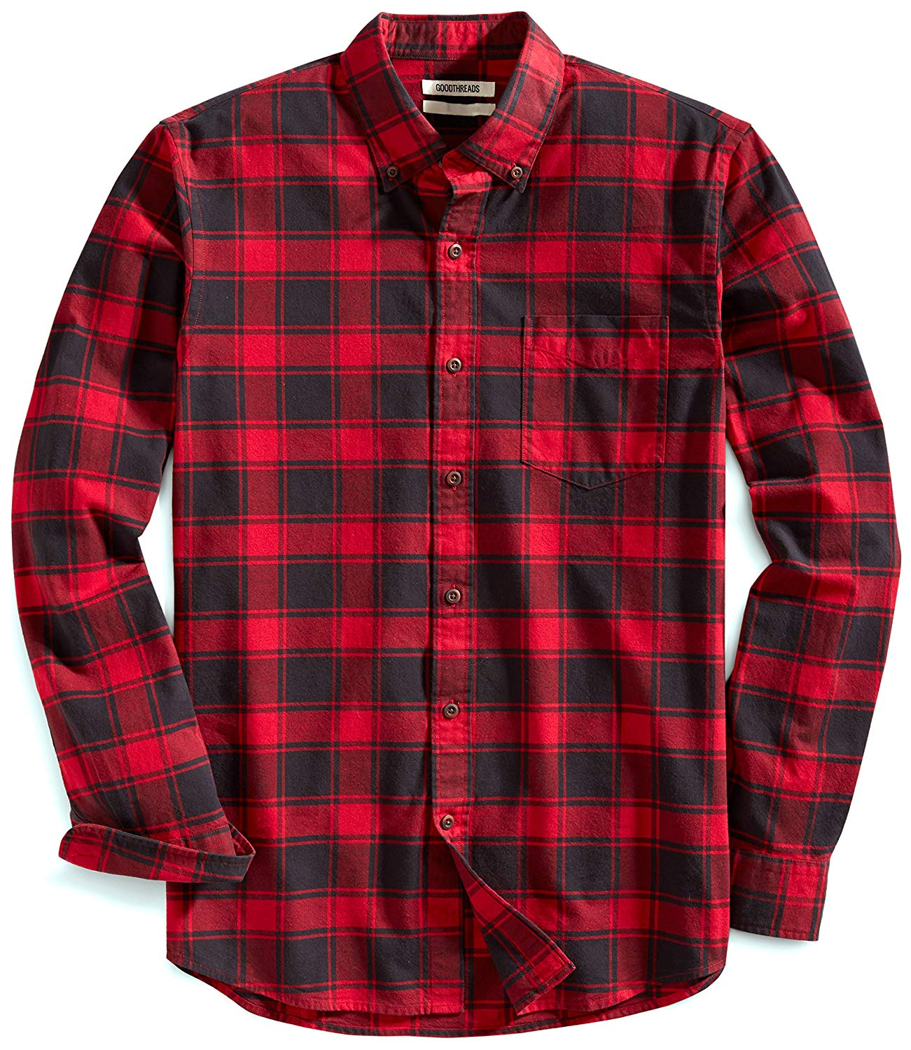 Goodthreads Men's Slim-fit Buffalo Plaid Oxford Shirt