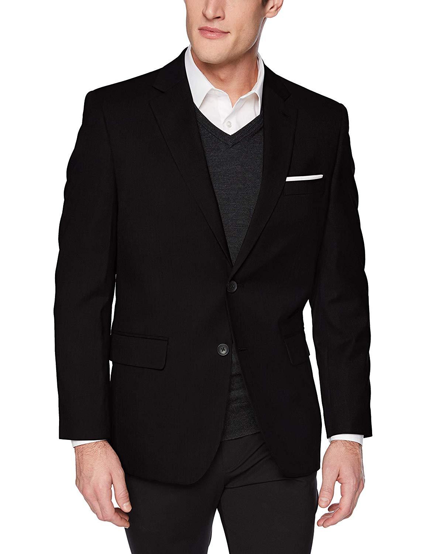 Haggar Men's Texture Weave Stretch Classic Fit Suit Separate Coat