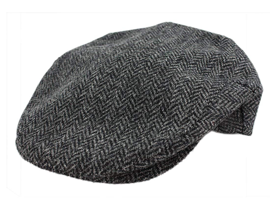 John Hanly Mens Irish Hat Wool Grey Herringbone Made in Ireland