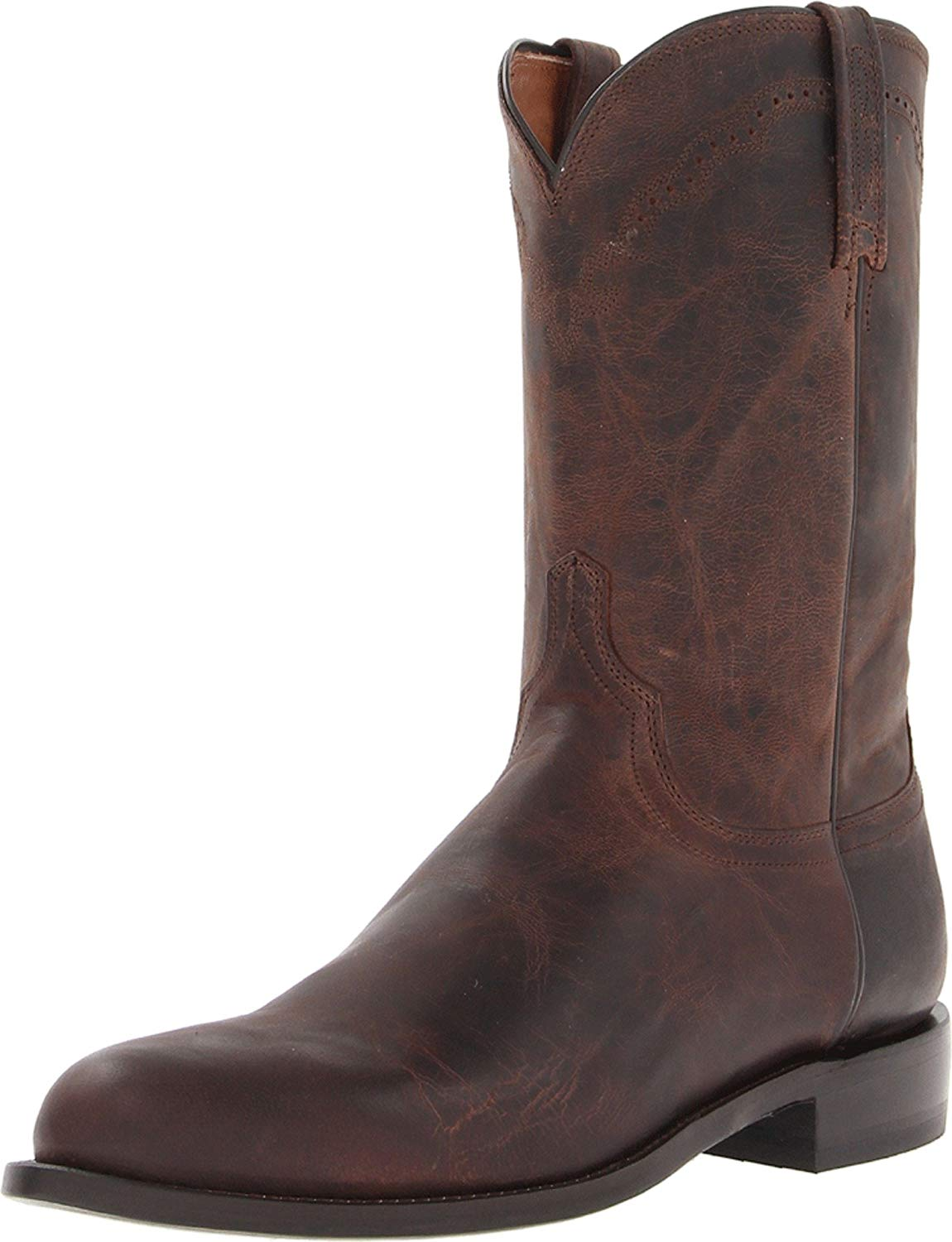Lucchese Bootmaker Men's Shane-chocolate Madras Goat Roper Riding Boot