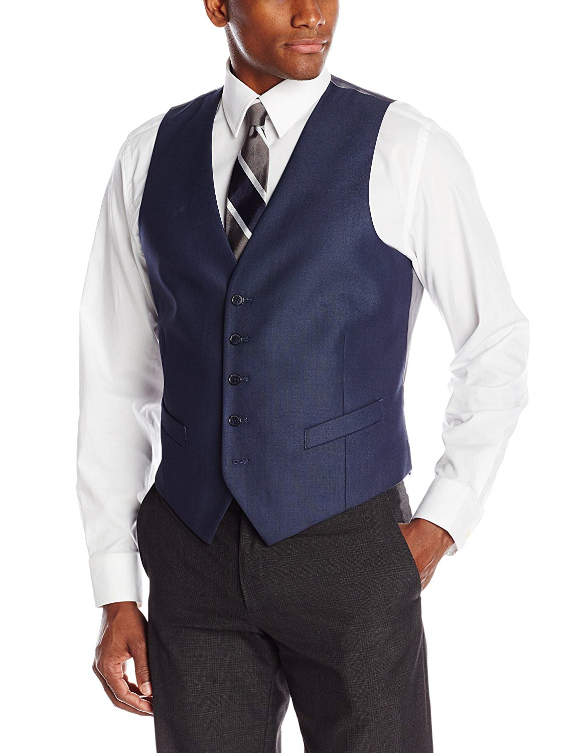 Perry Ellis Men's Slim Fit Suit Separate (Blazer, Pant, and Vest)
