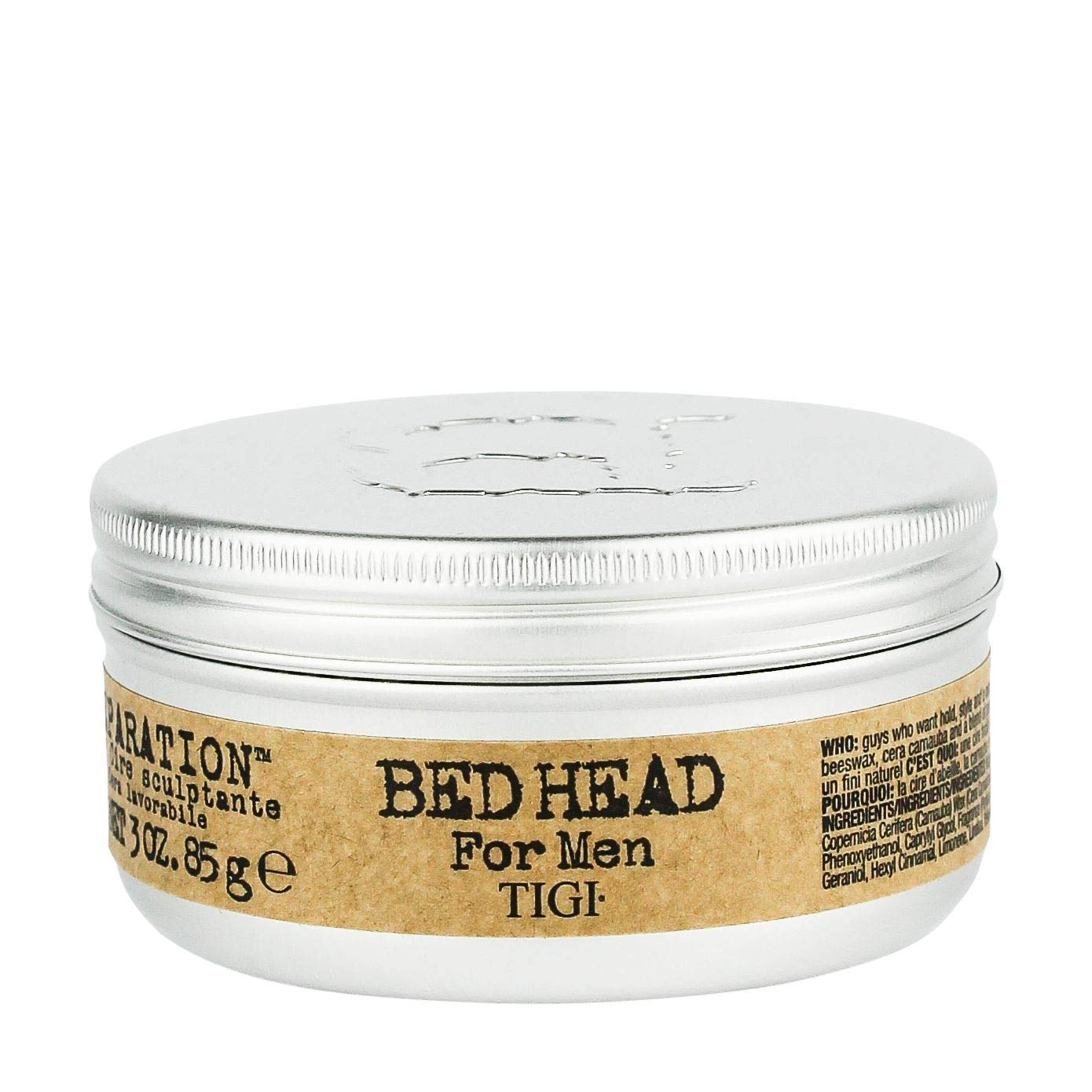 TIGI Bed Head B for Men Matte Separation Workable Wax, 3 Ounces
