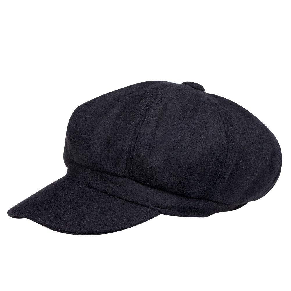 VBIGER Newsboy Hat Beret Hat Fedora Wool Blend Cap Collection Hats Cabbie Visor Cap Men Women
