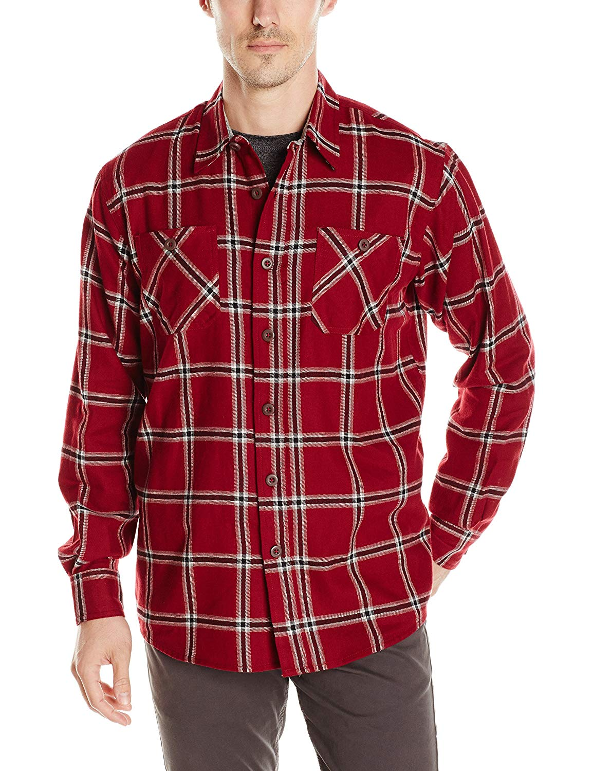 Wrangler Authentics Men's Long Sleeve Flannel Shirt