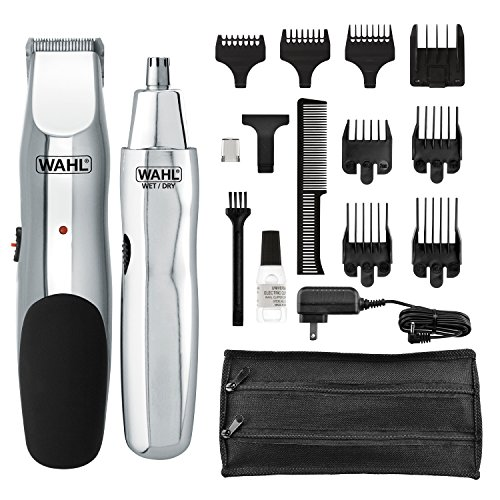 Wahl Model 5622Groomsman Rechargeable Beard, Mustache, Hair & Nose Hair Trimmer for...