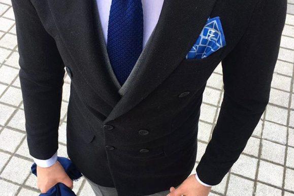 25 Spectacular Black Suit and Blue Tie Ideas – Splendid and Unique Color Combination