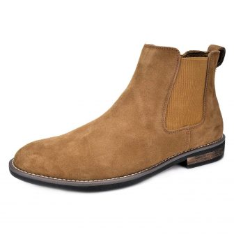 BRUNO MARC NEW YORK Men's Urban-06 Suede Leather Chukka Ankle Boots