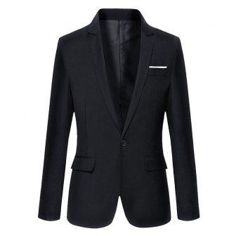 DAVID.ANN Men's Slim Fit One Button Casual Blazer Jacket