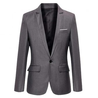DAVID.ANN Men's Slim Fit One Button Casual Blazer Jacket