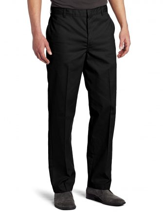Dickies Men's Flat-Front Pant Stain & Wrinkle Resistant Cotton/Poly