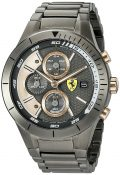 Ferrari Men's Quartz Resin Casual Watch, Color:Black (Model: 0830304)