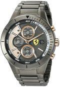 Ferrari Men's Quartz Resin Casual Watch, Color:Black (Model: 0830304)