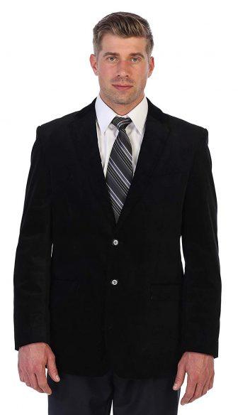 Gioberti Mens Velvet Blazer Jacket