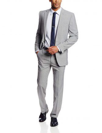 Haggar Men's Heather Slim-Fit Two-Button Side-Vent Suit Coat