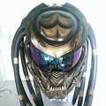JK04 NEW CUSTOM GOLD PREDATOR MOTORCYCLE HELMET AIRBUSH ART WORK DOT STANDARD...