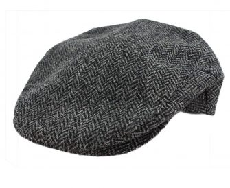 John Hanly Mens Irish Hat Wool Grey Herringbone Made in Ireland