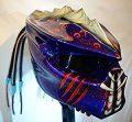 kustomzairbrushing Double Blue Predator Helmet (XX-Large)
