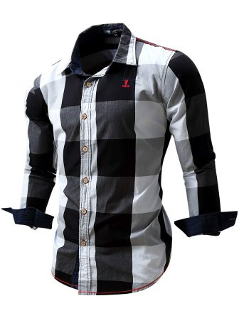 Neleus Men's Long Sleeve Button Down Shirts