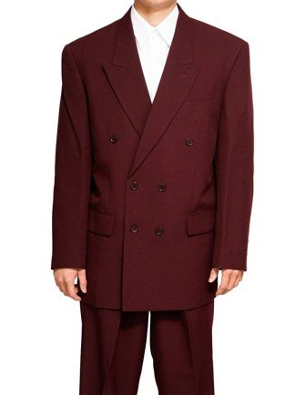 New Double Breasted (DB) Burgundy/Maroon Men's Business Dress Suit