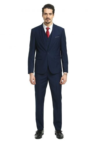 72afdc85d Nitree Men Suits Slim Fit 3 Piece One Button Suit Blazer Tux Vest &  Trousers Tuxedo