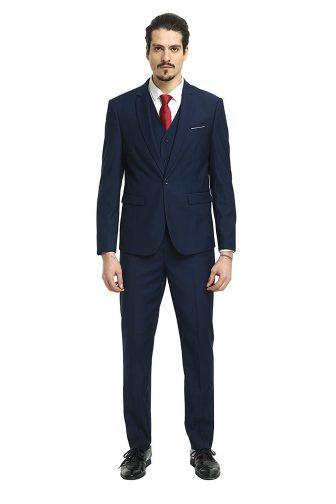 Nitree Men Suits Slim Fit 3 Piece One Button Suit Blazer Tux Vest & Trousers Tuxedo