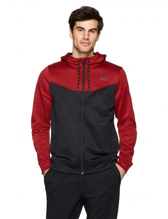 Peak Velocity Men's Quantum Fleece Full-Zip Loose-Fit Hoodie