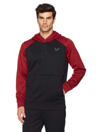 Peak Velocity Men's Quantum Fleece Pull-Over Loose-Fit Hoodie