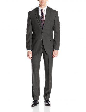Perry Ellis Men's Slim Fit Suit w/ Hemmed Pant