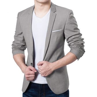 Pishon Men's Blazer Jacket Lightweight Casual Slim Fit One Button Sport Jackets