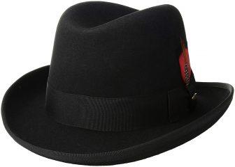 Scala Classico Men's Wool Felt Homburg Hat