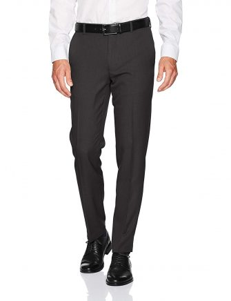 Van Heusen Men's Traveler Slim Fit Flat Front Pant