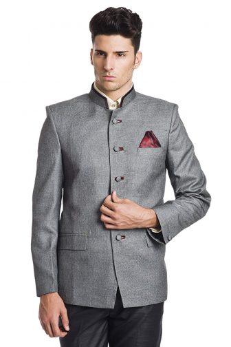WINTAGE Men's Linen Blend Bandhgala Nehru Mandarin Blazer -Two Colors