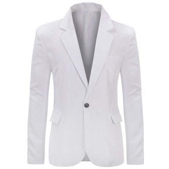 YUNCLOS Men's Slim Fit Casual One Button Notched Lapel Blazer Jacket